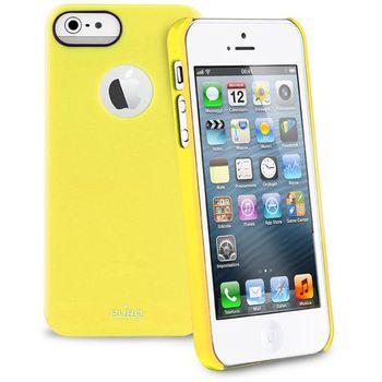PURO pouzdro s ochrannou fólií na displej pro Apple iPhone 5 - žlutá