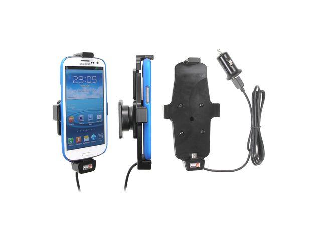 obsah balení Brodit držák do auta pro Samsung Galaxy S4, S III i9300 v pouzdru s nabíjením Belkin do zapalovače + adaptér pro snadné odebrání držáku z proclipu