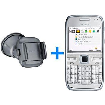 Nokia E72 Zircon White 4GB + Držák do auta CR-115