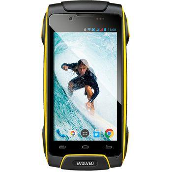 EVOLVEO StrongPhone Q8 LTE, černo-žlutý, rozbaleno, záruka 24 měsíců