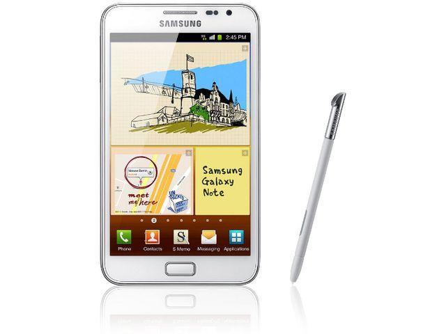 obsah balení Samsung Galaxy Note bílý + originální pouzdro Samsung bílé
