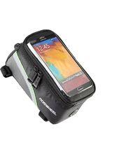Roswheel brašna na mobilní telefon na rám, vel.L zelený pruh