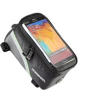 Roswheel brašna na mobilní telefon na rám, vel.M zelený pruh