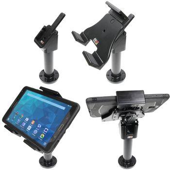Brodit sestava otočného montážního podstavce, MultiMove clipu a nastavitelného držáku pro tablet, 120-150mm, bez nabíjení, (215855)
